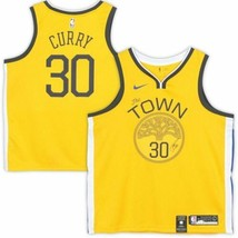 Stephen Curry Signed 2018 Nike Gold Earned Edition Swingman Jersey Fanatics. - $787.05