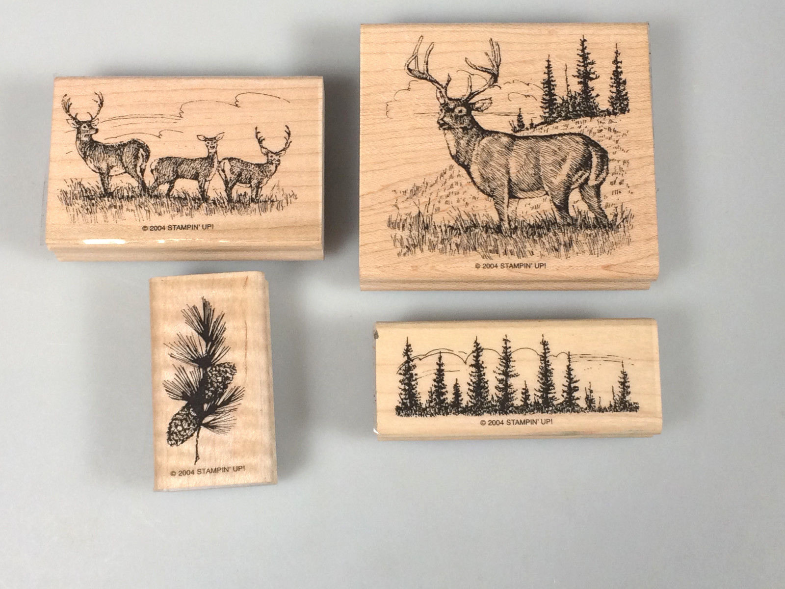 Noble Deer Rubber Stamp Set Hunting Camping And 50 Similar Items