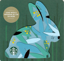 Starbucks 2019 Blue Easter Bunny Collectible Gift Card New No Value - $2.99