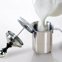 Milk Frother Pump Stainless Steel Manual Foamer Cappuccino Coffee Diy 40... - $20.94 CAD+