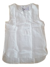 "NWT Ellen Tracy Womens Size Large ""Chalk"" Color Linen Sleeveless Tassel ... - $29.95"