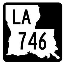 Louisiana State Highway 746 Sticker Decal R6070 Highway Route Sign - $1.45+