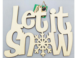 """Greenbrier """"Let It Snow"""" Wood Sign #296663-1906"""