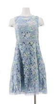 Isaac Mizrahi Special Edition Printed Lace Dress Lilac 0 NEW A305235 - $76.21