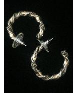 Vintage Gold Twisted rope-style hoop earrings - $12.00