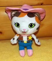 "Disney Pink Hat & Boots Wild West Sheriff CALLIE 8"" Plush Calico Cat - $7.29"