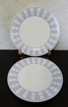 Martha Stewart Everyday France Garden Trellis Dinner Plates Lot of Two Blue - $14.84