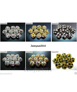 10pcs Crystal Rhinestones Pave Round Ball Spacer Beads Pick your Color a... - $2.56+