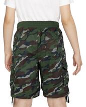 Boys Elastic Waist Drawstring Multi Pocket Cotton Toddler Kids Cargo Shorts image 11