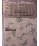 Tommy Bahama Sealife Paradise Aqua Blue on White Sheet Set Queen - $90.00