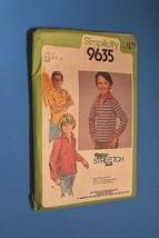 Vintage Simplicity Pattern 9635 Boys Size 8-12 Shirt Stretch Knit Top Ti... - $11.63