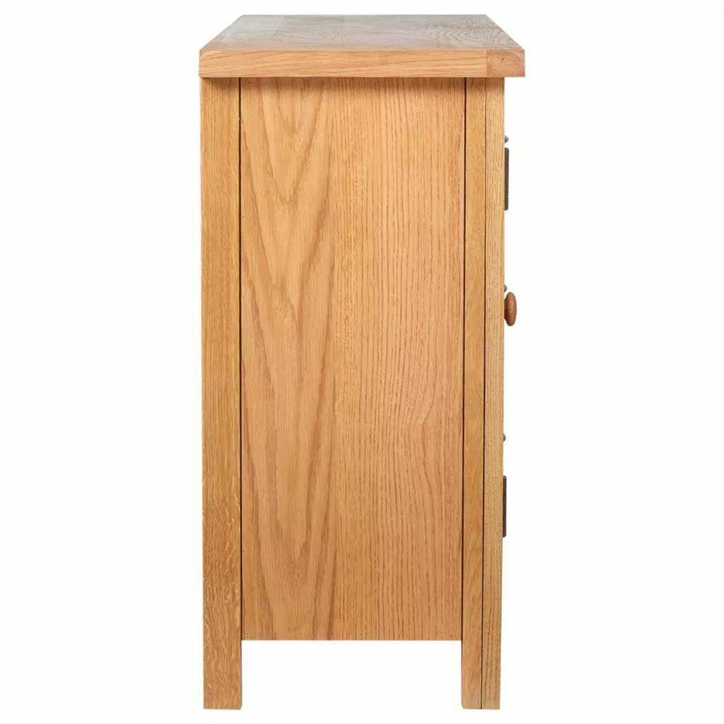 vidaXL Solid Oak Sideboard w/ 3 Drawers 2 Doors Side Storage Cabinet Cupboard image 6