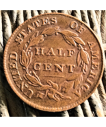 1836 Half Cent, excellent highlights, copper, Ungraded in great condition - $8.95