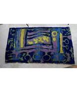 Vintage Original Scandinavian Rya scatter rug carpet 70s design Pop Art ... - $396.00