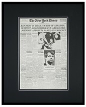 New York Times June 6 1968 Framed 16x20 Front Page Poster Robert F Kenne... - $79.19