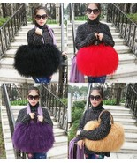 Latest styles high quality real long lamb fur handbag/mongolian fur bag ... - $60.33