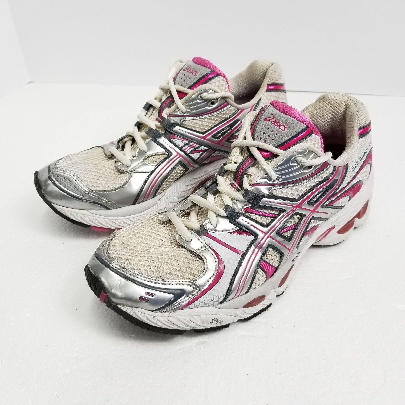 quality design df957 3297e Asics Gel Nimbus 11 Womens Running Shoes Size 10 White Pink Silver T991N  Train
