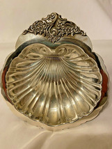 Wallace Baroque Silverplate Nut Mint Candy Dish Vintage - $10.55