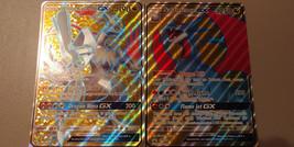 Jumbo Salamence GX SM139 + Jumbo White Kyurem GX SM141 Promos Dragon Maj... - $9.99