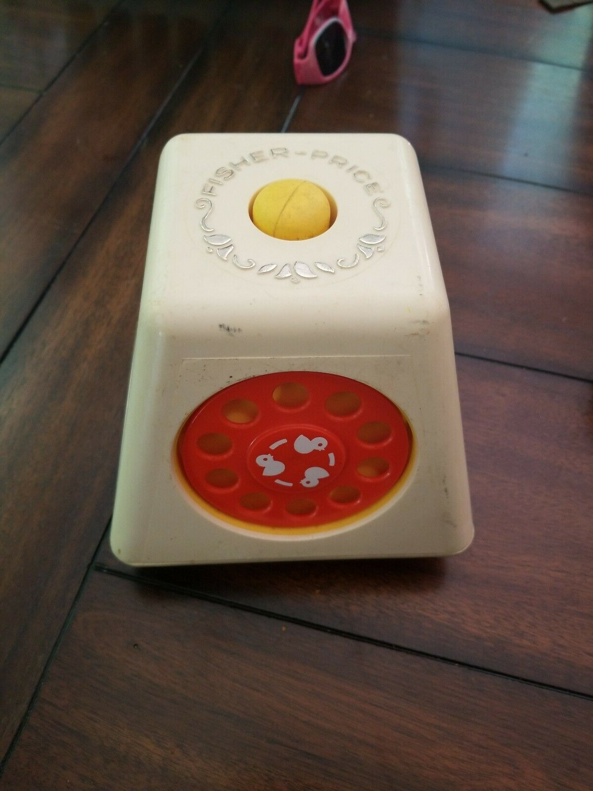Fisher Price 1978 TURN & LEARN SPINNING BUSY BOX CUBE Baby VINTAGE Toy image 3