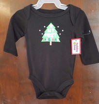 NEW NWT Girls or Boys Bodysuit 0-3 Months First 1st Christmas Cotton Blend - $5.99