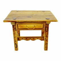 Antique Rustic Hand Made Accent Table with Hand Forged Blacksmiths Nails - $395.00