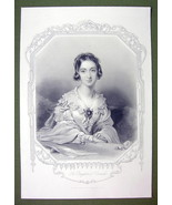 QUEEN VICTORIA'S Court Beauty Viscountess Canning - SUPERB Print Engraving - $27.72