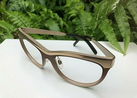 Very Nice Burberry Gold & Brown Eyeglasses Frames B 3076 Q 119/6H / 57-1... - $73.28