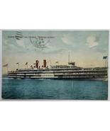 Old VTG Divided Back Postcard Hudson River Day Line Steamer Ship Hendric... - $12.69