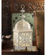 WHITE MEDALLION TABLE LAMP - $49.95