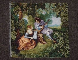 Musical Romance Scenery Italian Tapestry Woven In Italy - $419,74 MXN