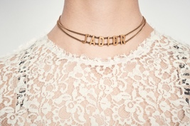 AUTH Christian Dior 2019 J'ADIOR Limited Ed Necklace Chain Choker Gold image 6