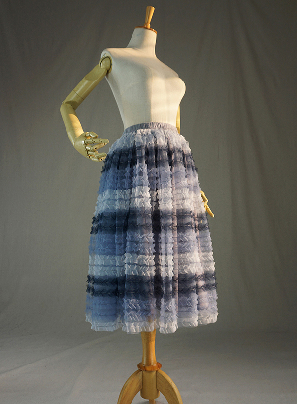 Grey multicolor tulle skirt 2
