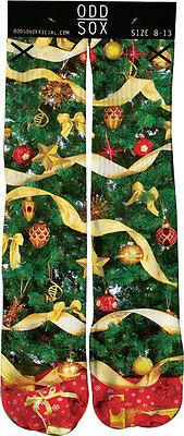 Odd Sox Mens Christmas Tree Socks Ornaments XMAS
