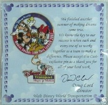 Disney Transportation Magic in Motion Cast Making Dreams Come True pin - $28.75