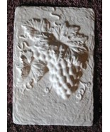 Mold, Plaster Mold Grapes Tile, Concrete Mold, Clay Mold, Molds, Plaster... - $14.99