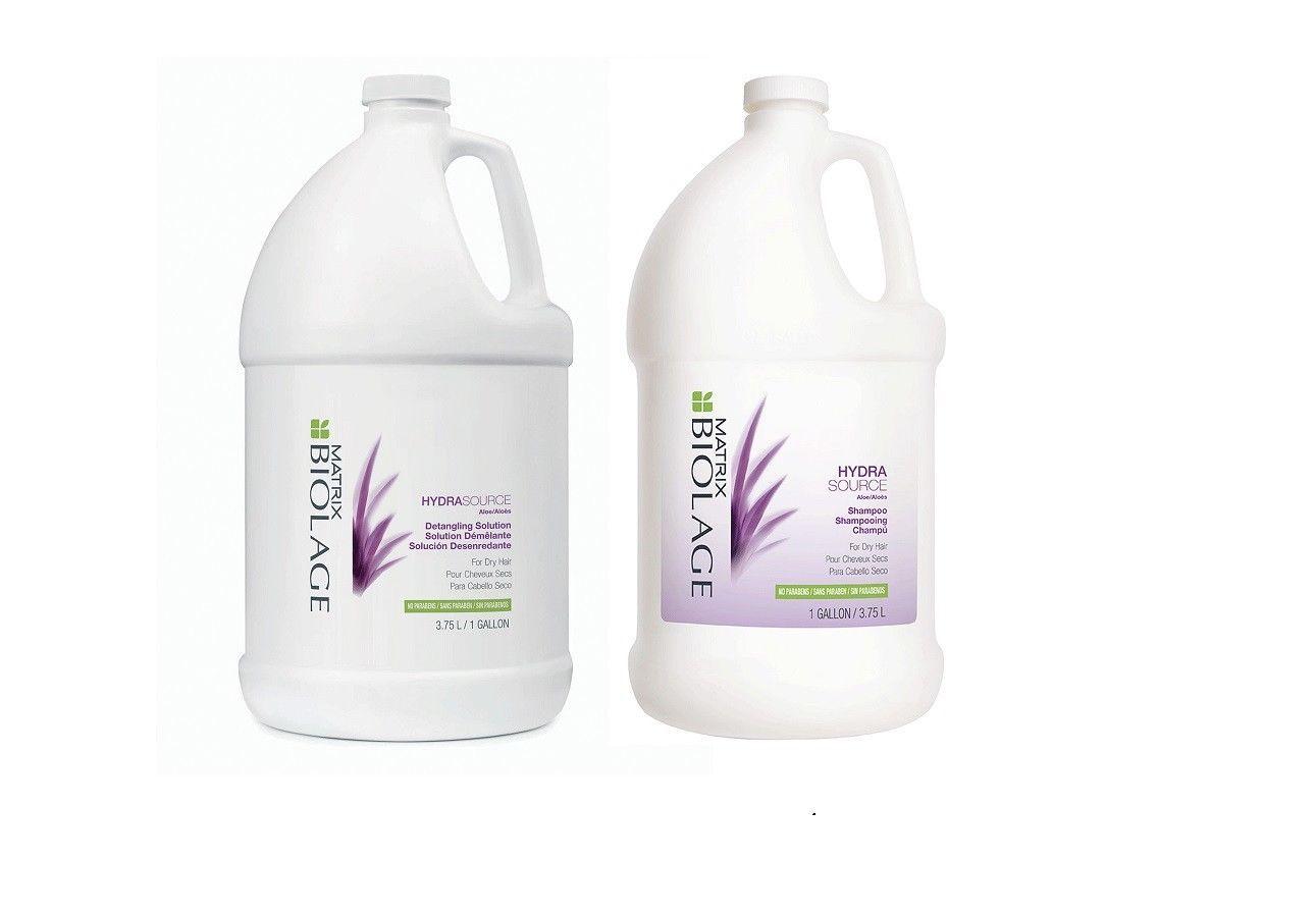 Matrix Biolage HydraSource Shampoo  Detangling Solution Duo Gallon