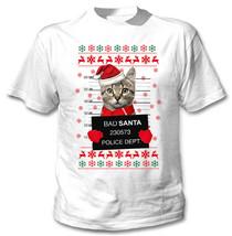 CAT 2 BAD SANTA - NEW COTTON WHITE TSHIRT - $19.53