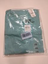 Harbor Bay Mens Cotton Shirt Crew Neck No Pocket T-Shirt 3XL ReefWater B... - $18.95