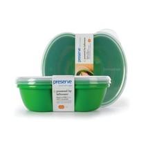 Preserve Square Food Storage Set - Green - Case... - $50.61