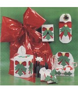 Plastic Canvas Holly Christmas Door Knob Tissue Cover Gift Box Switch Pa... - $10.99