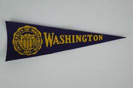 1950's Washington Huskies Mini Pennant: Vintage Felt Hormel College NCAA - $17.95
