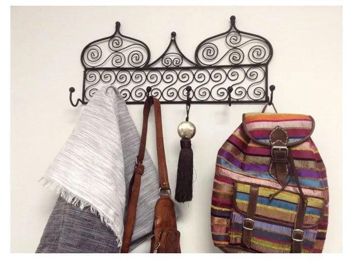 Wrought Iron Wall Hanger,Moroccan Arabic Design Black