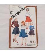 Skirts Girls Size 10 McCall Sewing Pattern 5673 Uncut 1982 Vintage - $15.99