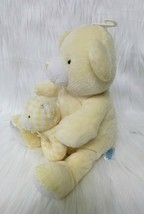 Kids Preferred Bear w Baby Hand Rattle Lovey Yellow Lovey Plush Stuffed Toy B205 image 2
