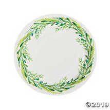 Spring Greenery Paper Dinner Plates  - $3.61
