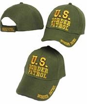 U.S. Border Patrol Hat Green / Yellow Embroidered Cap  - $21.77