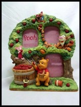 Disney Winnie The POOH Figure photo stand frame with music box Piglet Tigger - $62.37