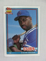 Jerome Walton Chicago Cubs 1991 Topps Baseball Card 135 - $0.98