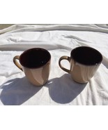 Sango Nova Brown Coffee Mugs - Set of 2 Tall Cups  Mugs - # 4933 Stoneware Mint - £7.19 GBP